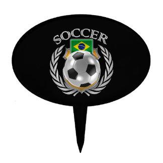 Brazil Soccer 2016 Fan Gear Cake Topper