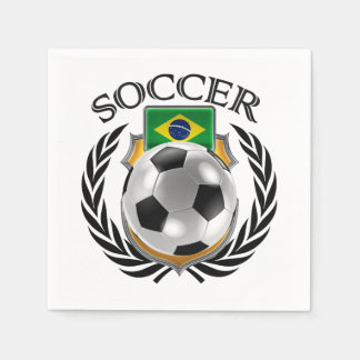 Brazil Soccer 2016 Fan Gear Paper Napkin