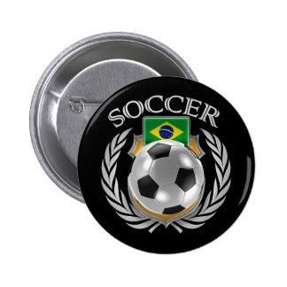 Brazil Soccer 2016 Fan Gear Pinback Button