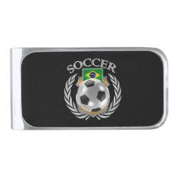 Brazil Soccer 2016 Fan Gear Silver Finish Money Clip