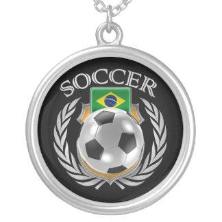 Brazil Soccer 2016 Fan Gear Silver Plated Necklace