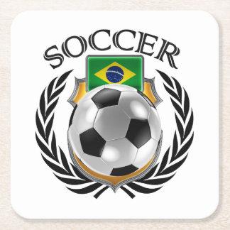 Brazil Soccer 2016 Fan Gear Square Paper Coaster