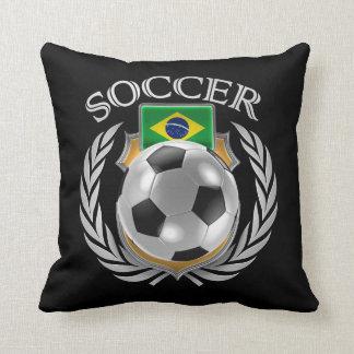 Brazil Soccer 2016 Fan Gear Throw Pillow