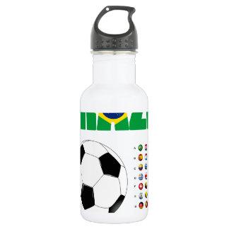 Brazil Soccer  2801 18oz Water Bottle