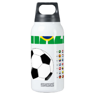 Brazil Soccer  2801 10 Oz Insulated SIGG Thermos Water Bottle