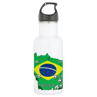 Brazil Soccer  3307 18oz Water Bottle