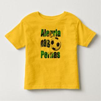 Brazil Soccer Alegria Nas Pernas Futebol Tee Shirt