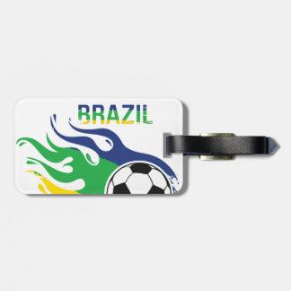 Brazil Soccer Ball Bag Tag