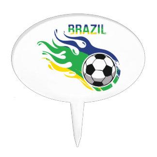 Brazil Soccer Ball Cake Topper
