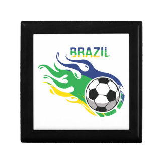 Brazil Soccer Ball Jewelry Box