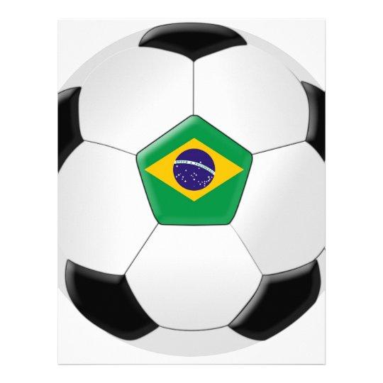 Brazil Soccer Ball Letterhead
