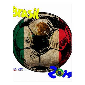 BRAZIL SOCCER BALL MEXICO PRODUCTS TSHIRT POSTCARD