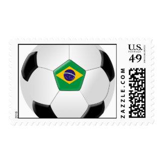 Brazil Soccer Ball Postage Stamp
