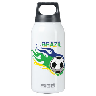 Brazil Soccer Ball 10 Oz Insulated SIGG Thermos Water Bottle