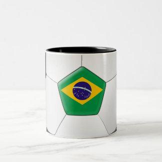 Brazil Soccer Ball Two-Tone Coffee Mug