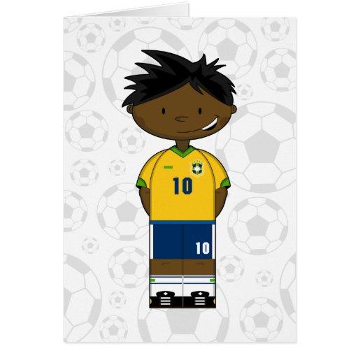 Brazil Soccer Boy Card