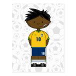 Brazil Soccer Boy Postcard