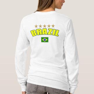 Brazil Soccer - Brazil 5 stars Brazilian Futebol T-Shirt
