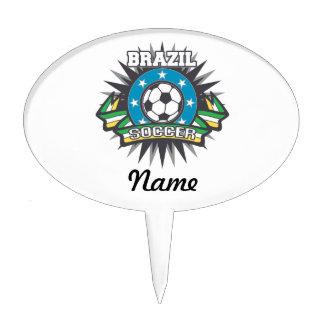 Brazil Soccer Burst Cake Topper