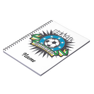 Brazil Soccer Burst Notebook