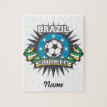 Brazil Soccer Burst Puzzle