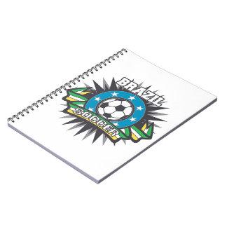 Brazil Soccer Burst Spiral Notebook