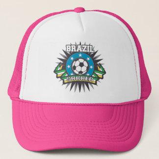 Brazil Soccer Burst Trucker Hat