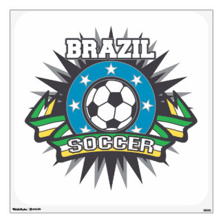 Brazil Soccer Burst Wall Decal