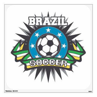 Brazil Soccer Burst Wall Decal