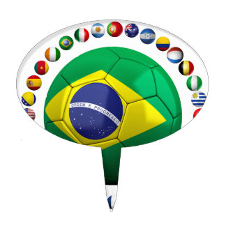 Brazil Soccer Cake Topper