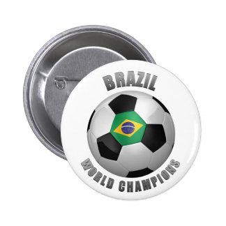 BRAZIL SOCCER CHAMPIONS BUTTONS