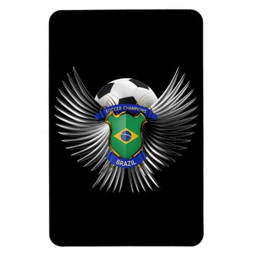 Brazil Soccer Champions Flexible Magnets