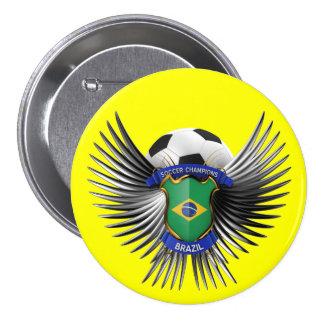 Brazil Soccer Champions Pinback Buttons