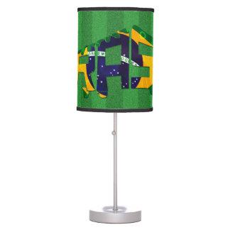 Brazil Soccer Cleat Calligram Table Lamp
