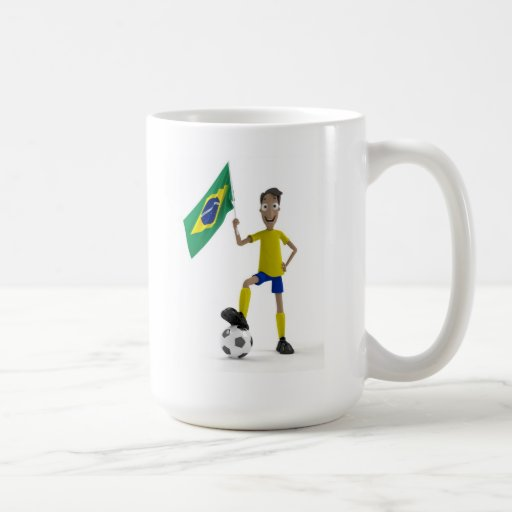 Brazil soccer coffee mug