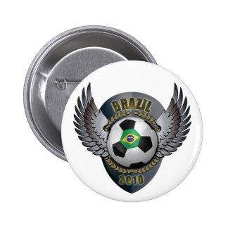 Brazil Soccer Crest Buttons