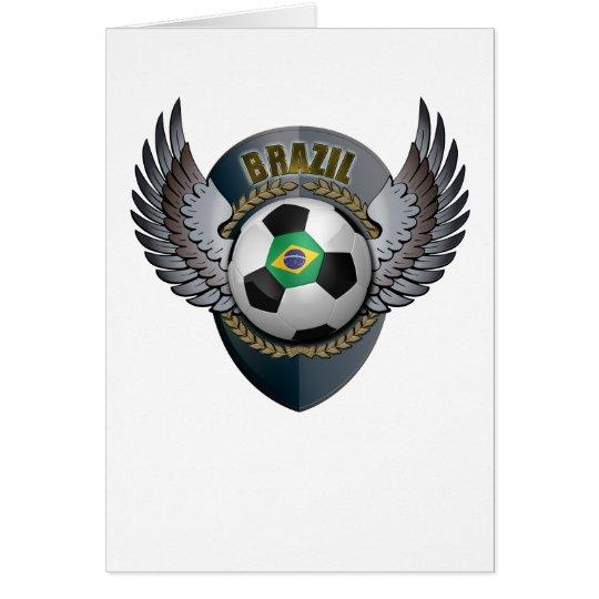 Brazil Soccer Crest Card