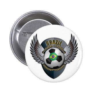 Brazil Soccer Crest Pinback Button