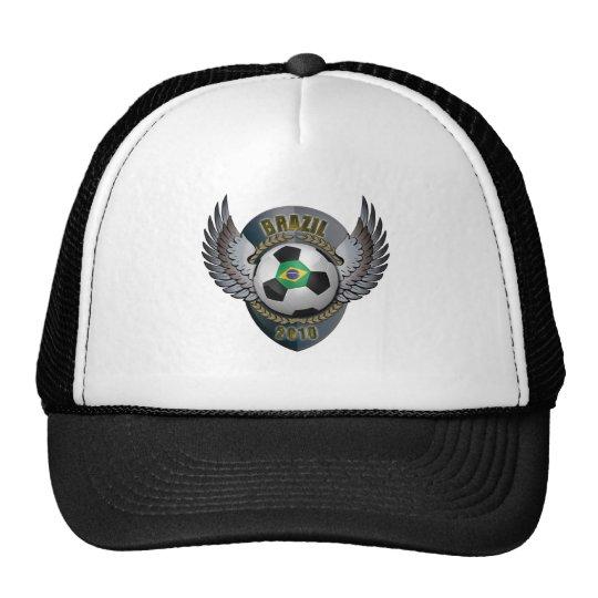 Brazil Soccer Crest Trucker Hat