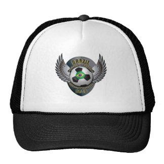 Brazil Soccer Crest Trucker Hats