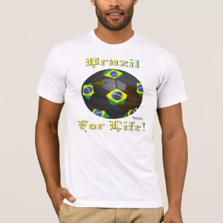 Brazil Soccer Fan 4 Life Men's T-Shirt
