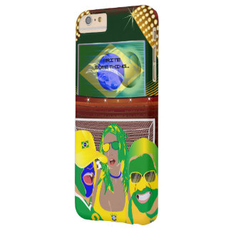 Brazil Soccer Football Fan Barely There iPhone 6 Plus Case