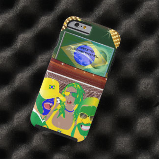 Brazil Soccer Football Fan Tough iPhone 6 Case