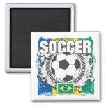 Brazil Soccer Fridge Magnets