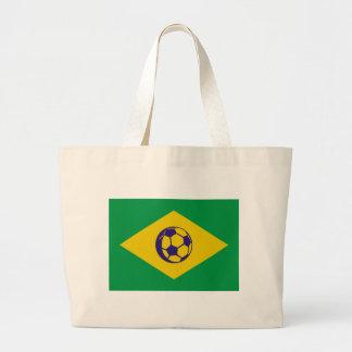 brazil soccer icon jumbo tote bag