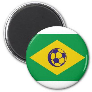 brazil soccer icon magnet