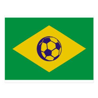 brazil soccer icon postcard