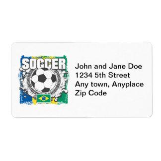 Brazil Soccer Label