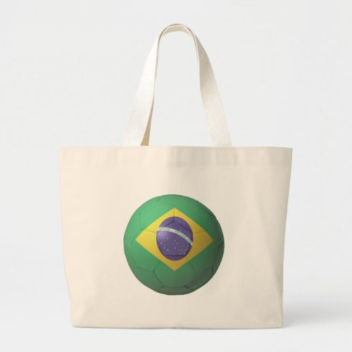 Brazil Soccer Large Tote Bag