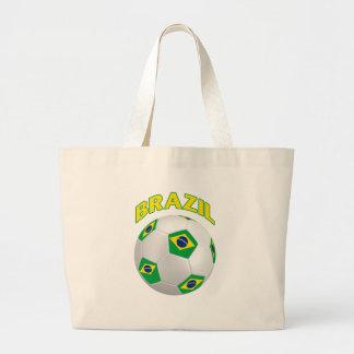 Brazil Soccer Large Tote Bag